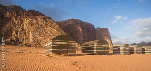 Fotografie, Obraz  Bedouin camp in Wadi Rum , Jordan
