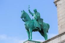 Statue Of King Saint Louis At The Sacre Coeur In Paris