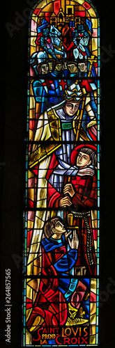 Fotomural Saint Louis IX of France - Stained Glass in Sacre Coeur