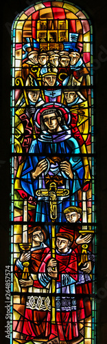 Cuadros en Lienzo Saint Louis IX of France - Stained Glass in Sacre Coeur