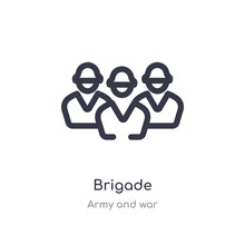 Brigade Outline Icon. Isolated...