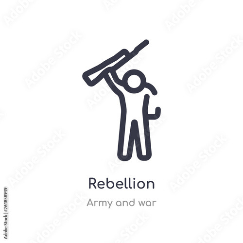Fotografía rebellion outline icon