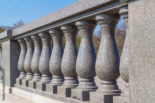 Balusters and railings made of granite Wallpaper Mural