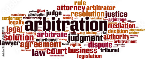 Photo Arbitration word cloud