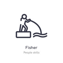 Fisher Outline Icon. Isolated ...