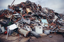 Heap Of Metal Items On A Scrap...