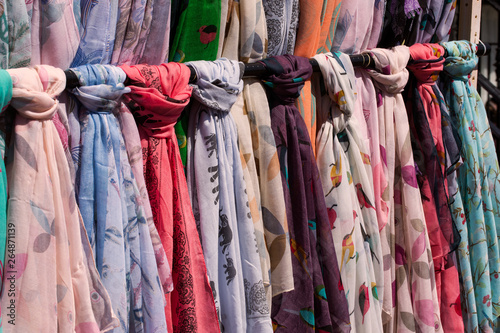 Ladies Scarves at an Outdoor Market