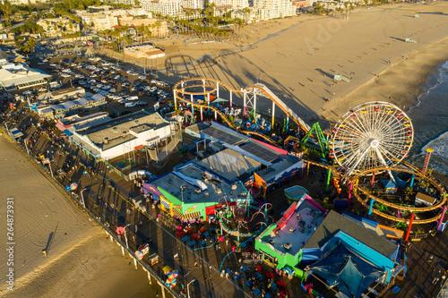 Aerial photo Santa Monica Pier Pacific Ocean