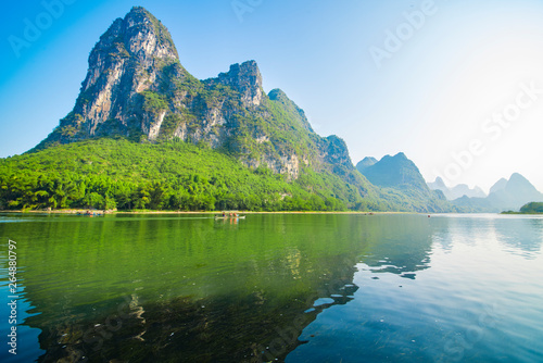 Photo Stands Guilin Landscape jiatianxia guilin, lijiang river on the mountain.The landscape of near guilin, yangshuo county, guangxi, China