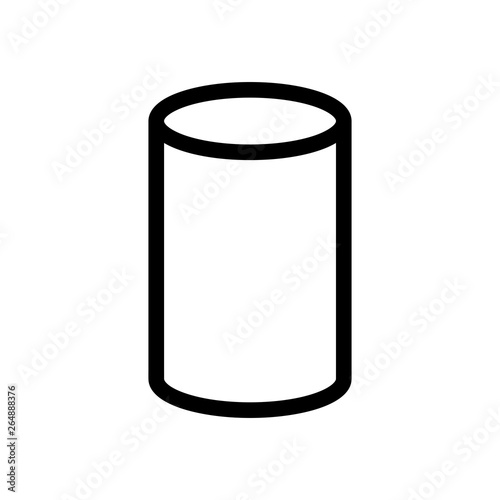 Fotomural  Cylinder Math Geometry 3D Icon Vector