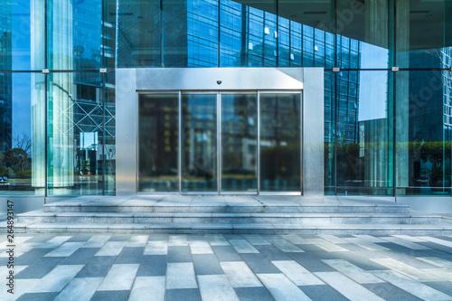 Fotografie, Obraz  empty pavement front of the modern office entrance.