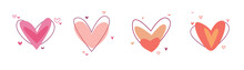 Creative Red Hearts Icon Set. ...