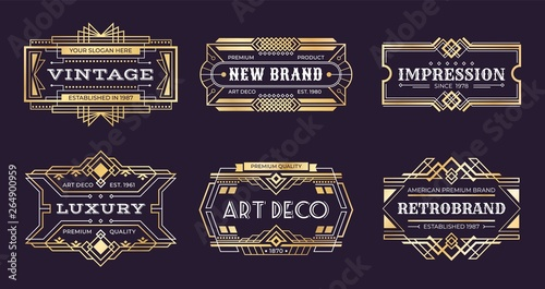 Photo Art deco labels