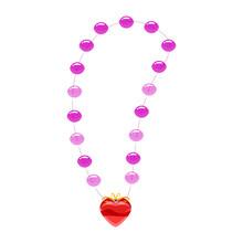 Princess Necklace, Pearls, Heart-shaped Pendant Precious Stones