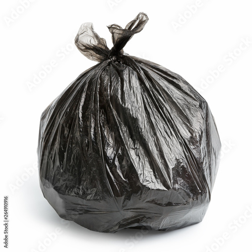 Fototapety, obrazy: Garbage bag on white background