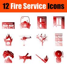 Fire Service Icon Set
