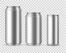 Realistic Aluminum Cans. Blank...