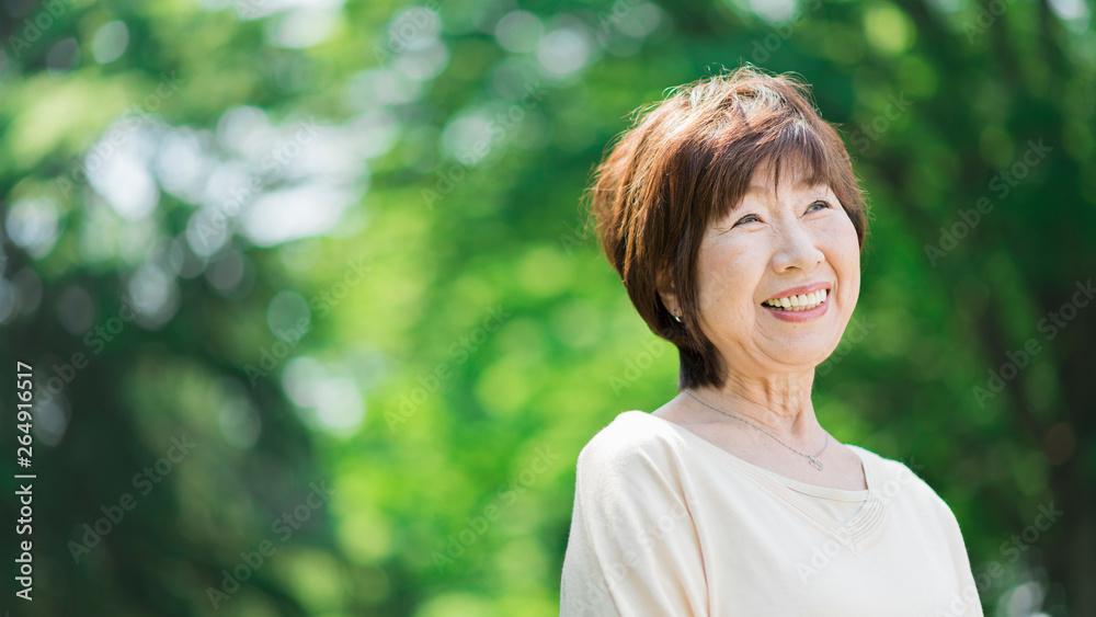 Fototapety, obrazy: シニア ポートレート 女性