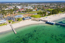 Busselton Jetty, Western Australia Is The Second Longest Wooden Jetty In The World At 1841 Meters Long.
