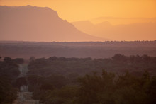 Sunset Over The Low Veld Of South African Greater Kruger Area