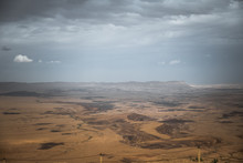 View From Mitzpe Ramon On Th Desert