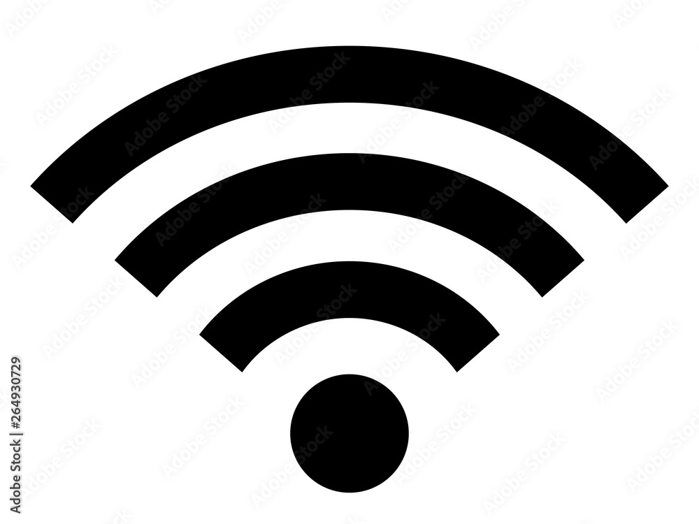 Fototapeta Wifi icon wireless internet connection signal