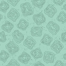 Vector Seamless Turtle Pattern. Abstract, Modern Print In Green With Scuffs.