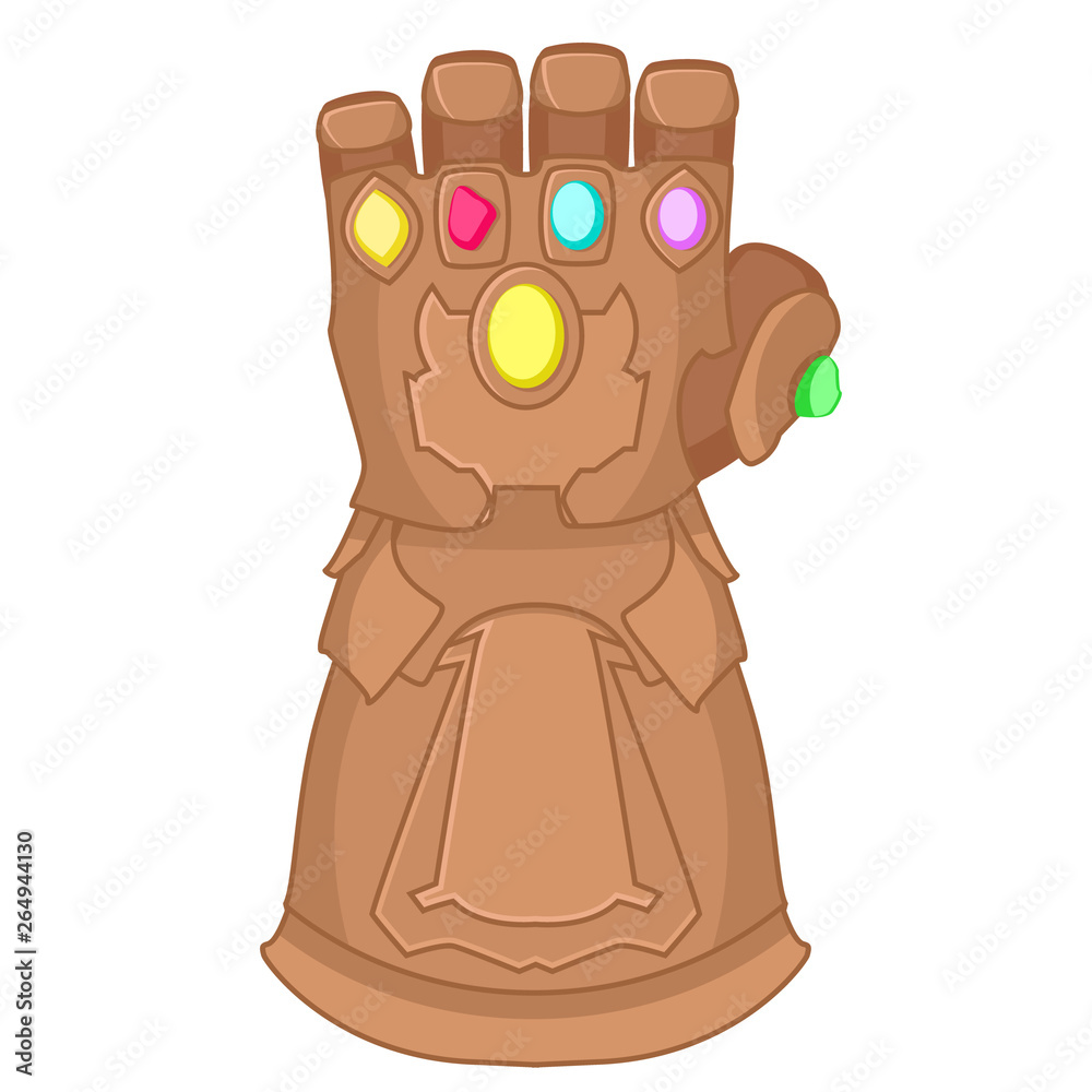 Fotografía Glove Of Thanos Superhero On A White Background