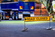 Road Closed Australian Sign