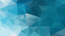 Vector Abstract Irregular Polygon Background - Triangle Low Poly Pattern - Cerulean Blue Turquoise Color