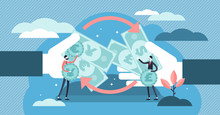 Money Exchange Vector Illustra...