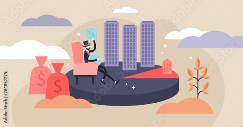 Fotografia, Obraz Monopoly vector illustration