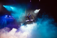 Air Acrobat In The Circus.