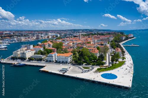 Obraz na plátně  Aerial view of city of Zadar