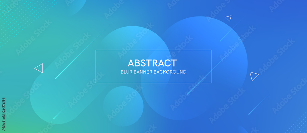 Fototapeta Abstract futurictic banner with a gradient shapes and blur