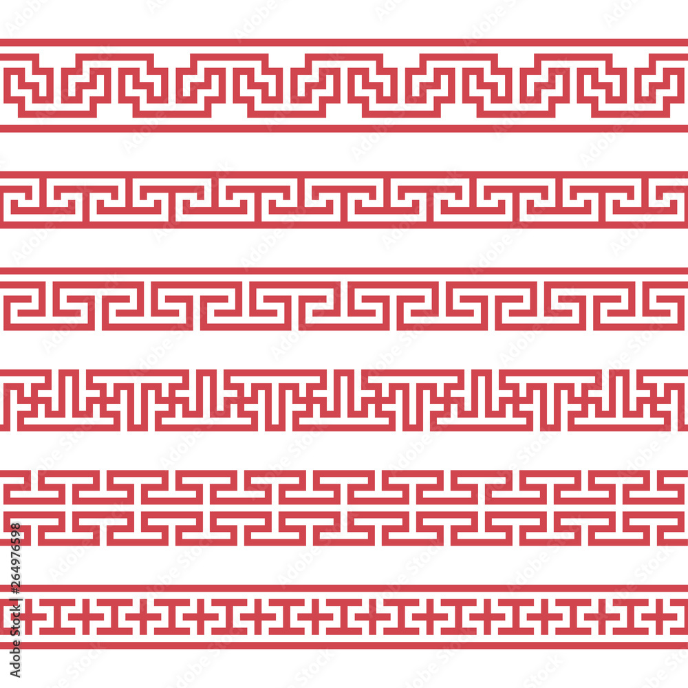 Fototapety, obrazy: Set of vector korean borders