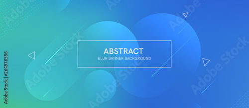 Obraz Abstract futurictic banner with a gradient shapes and blur  - fototapety do salonu