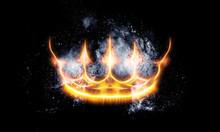 Royal Crown In Cosmic Space. L...