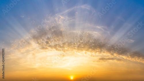 fototapeta na ścianę Morning sunrise sky and cloud nature panorama background