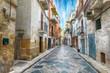 canvas print picture - The historic center of a Gravina in Puglia
