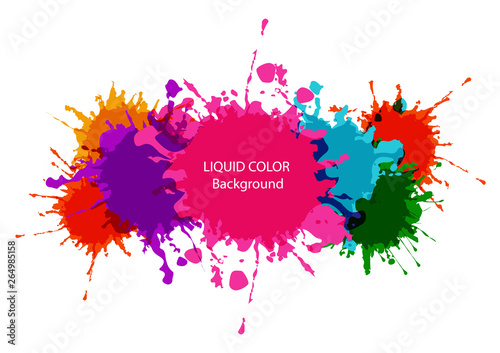 Foto auf Leinwand Formen abstract vector liquid colorful background design. illustration vector design