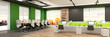 Modern office interior. 3d rendering.