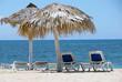 transat et parasol et bord de mer, trinidad, Cuba, Caraïbes