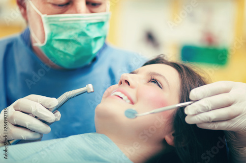 Female patient having a dental treatment Fototapeta