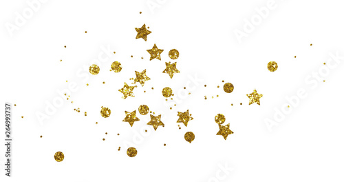 Scattered golden seqines and stars Tableau sur Toile