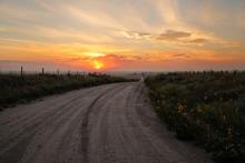 Dirt Road At Sunrise, North Pl...