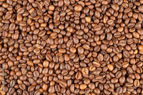 fototapeta na ścianę Raw coffee beans texture and background