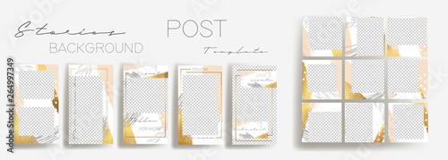 Fotografia  Design backgrounds for social media banner