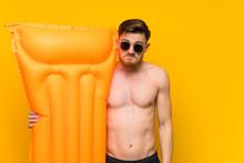 Redhead Man In Summer Holidays...