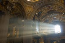 Ray Of Light Through A Church Window